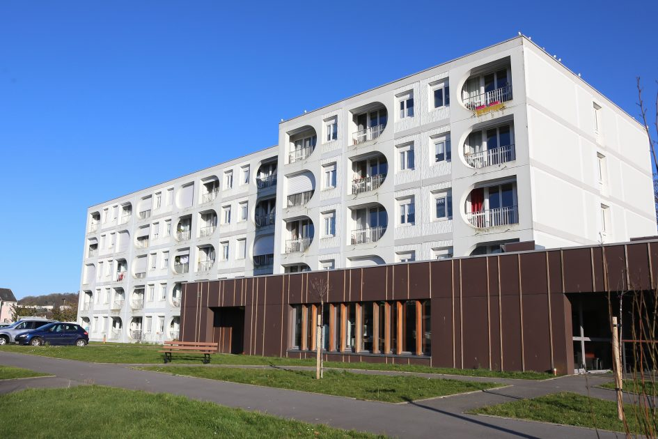 Photo de la façade de la résidence du Clos-Fleuri