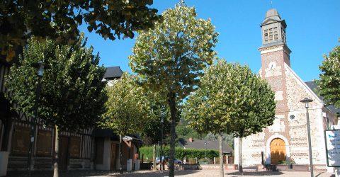 Vue extérieure de l'église de Gournay