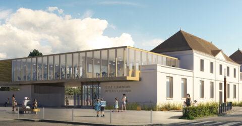 Plan 3D de la nouvelle école Jacques Eberhard