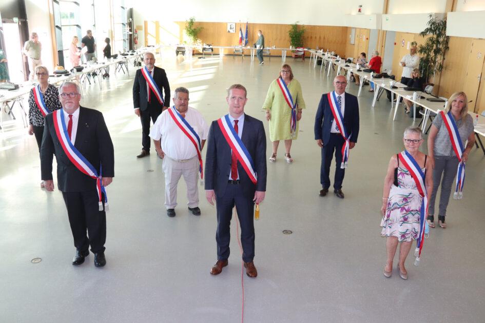 Photo du Maire et de ses adjoints