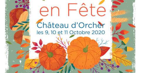 Affiche annonçant l'animation Plantes en fête du 9 au 11 octobre au Château d'Orcher