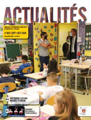 Couverture du magazine Actualités Sept-Oct 2020 - une rentrée scolaire masquée et sereine- lancement de la nouvelle saison culturelle
