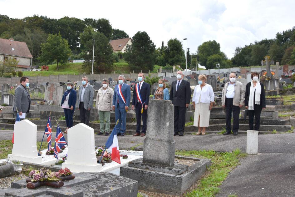 Cérémonie de commémoration de la libération de la ville en présence du Maire, du Député Jean-Paul Lecoq, des partenaires et des élus