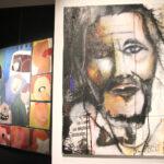 deux peintures représentant des portraits et personnages
