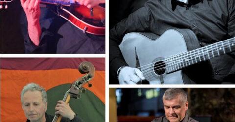 Les quatre musiciens du groupe Douce Ambiance